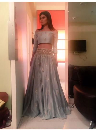 A-Linien-/Princess-Stil Schulterfrei Bodenlang Satin Dreiviertelärmel zweiteilige Kleid mit Perlenstickereien