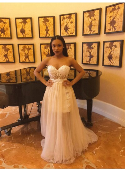 Trompeten-/Meerjungfrauenkleider Herzausschnitt Bodenlang Chiffon Abendkleid